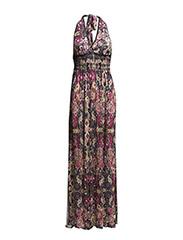 shape in a drape long dress - ALMOST BLACK