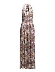 shape in a drape long dress - LIGHT PORCELAIN