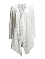 one way wrap cardigan - LIGHT CHALK