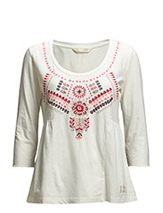 mollywood blouse - LIGHT CHALK