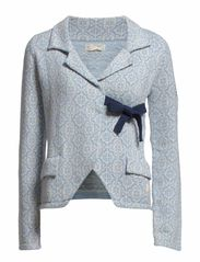lovely knit jacket - LIGHT BLUE