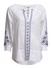 nectar l/s blouse - WHITE
