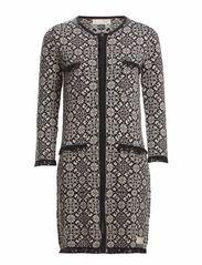 chillax knit coat - ALMOST BLACK