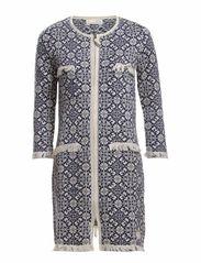 chillax knit coat - BLUE