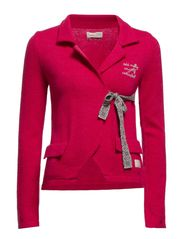solid lovely knit jacket - CERISE