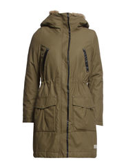 wintry parka - MARTIAL GREEN