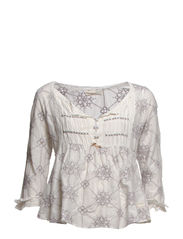united smiles blouse - LIGHT PEARL