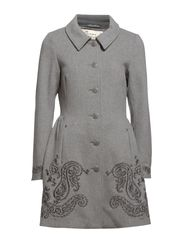 flasherette long coat - LIGHT GREY MELANGE