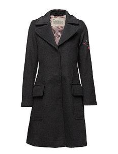 wild embroidered coat - ASPHALT