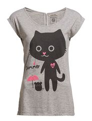 F T-Shirt with cat print