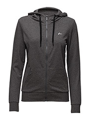 onpLINA ZIP HOOD SWEAT - OPUS - DARK GREY MELANGE