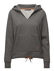 onpSAMA BRUSHED HOOD SWEAT - MEDIUM GREY MELANGE