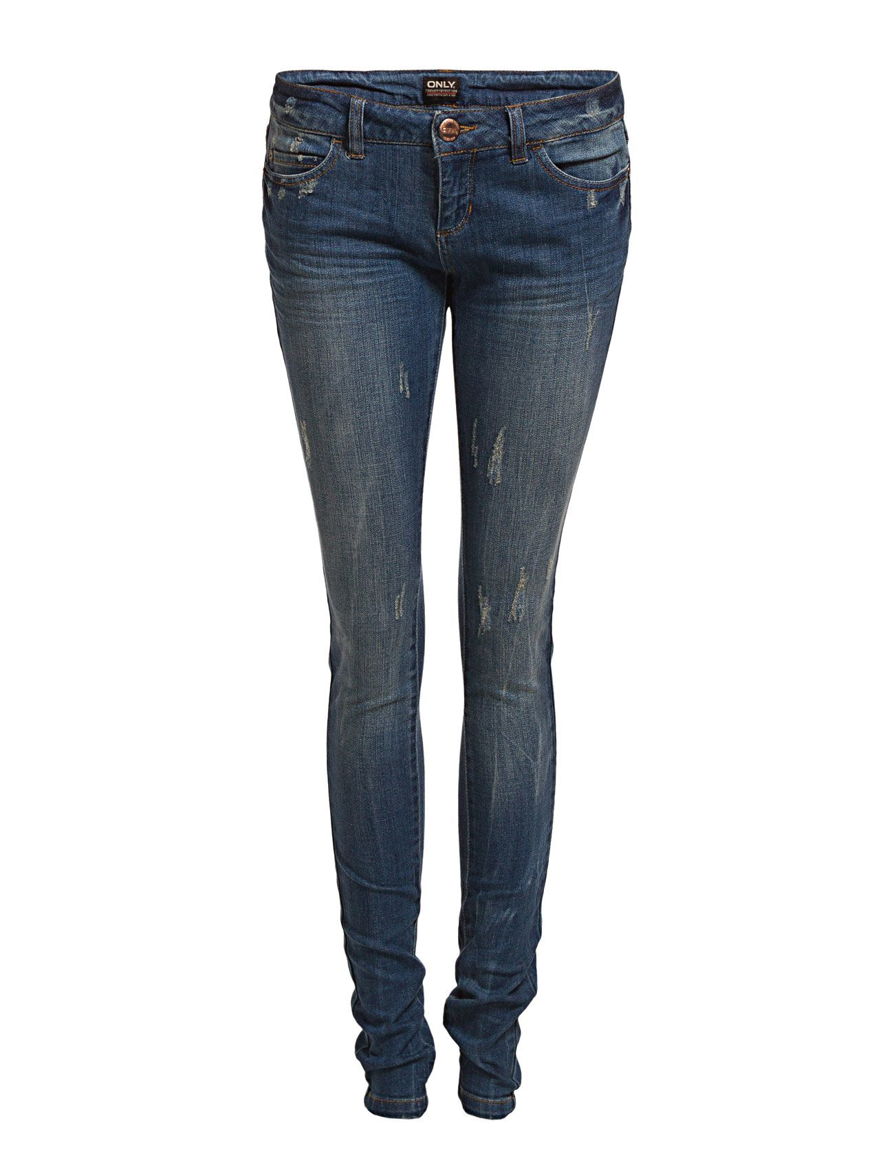 Skinny Low Coral Destroyed Jeans Bj1751