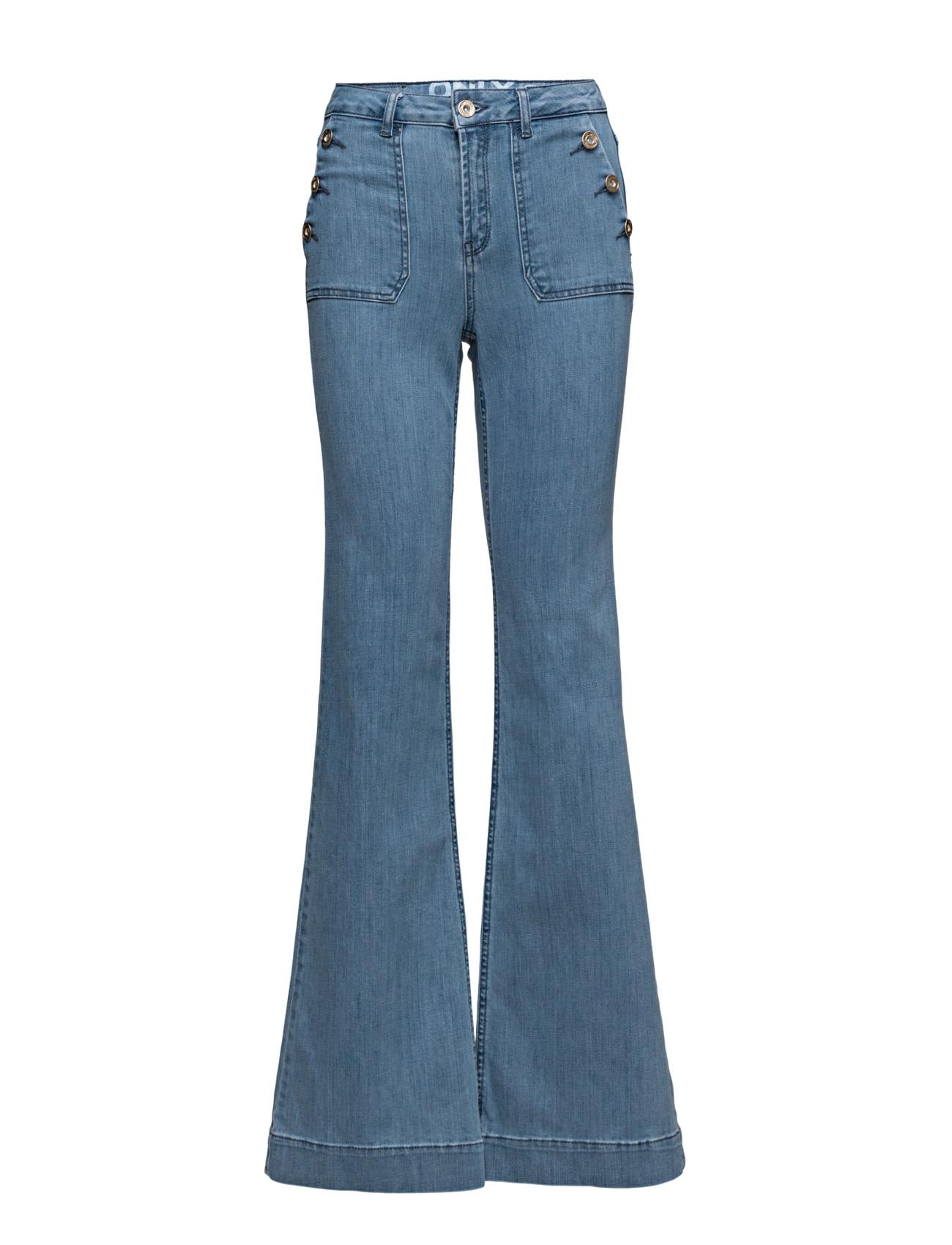 Onllea Highw Dnm Flared Jeans Cre ONLY Trompetbukser til Damer i