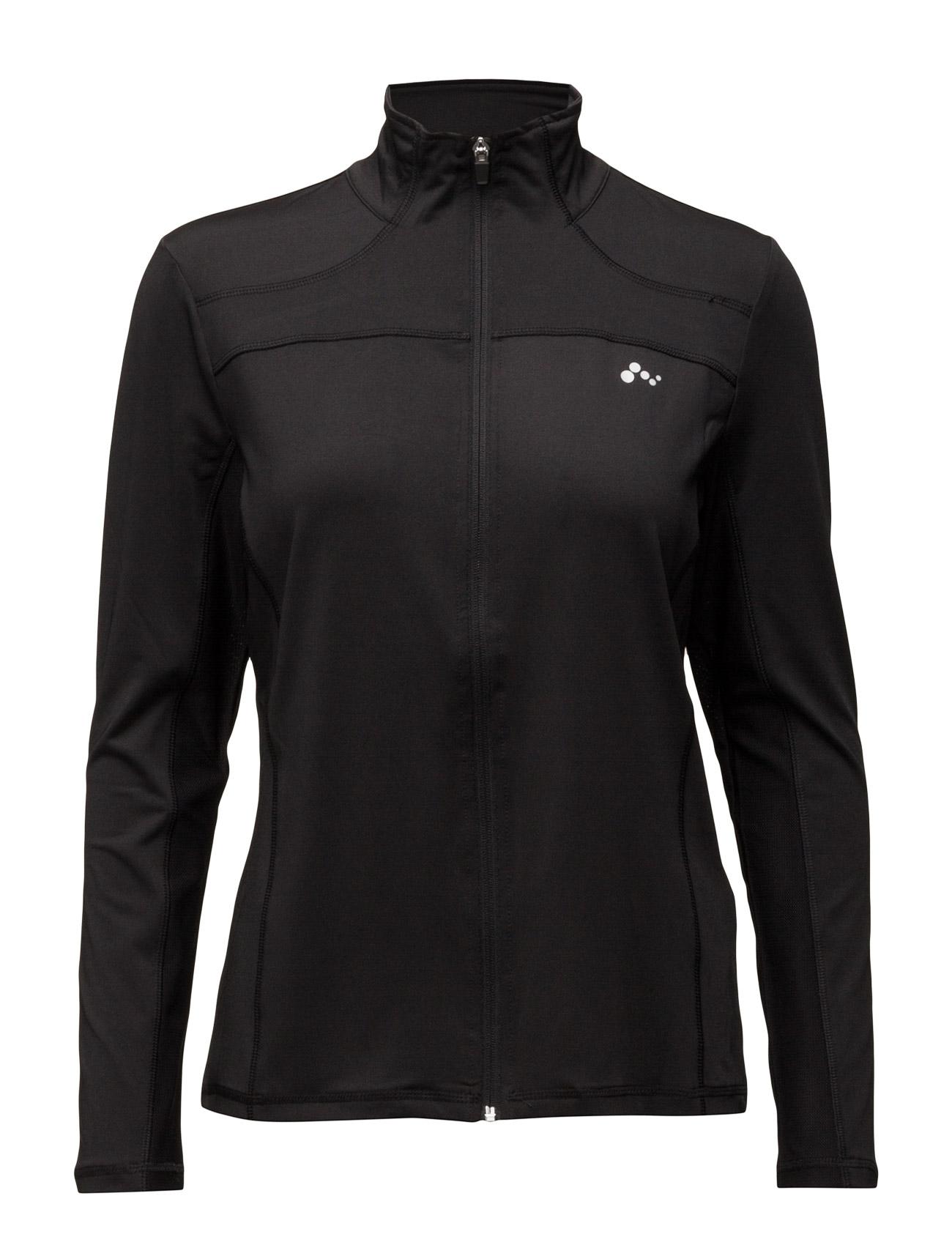 Onpzebra Aop Training Zip Sweat ONLY Sports toppe til Kvinder i Sort