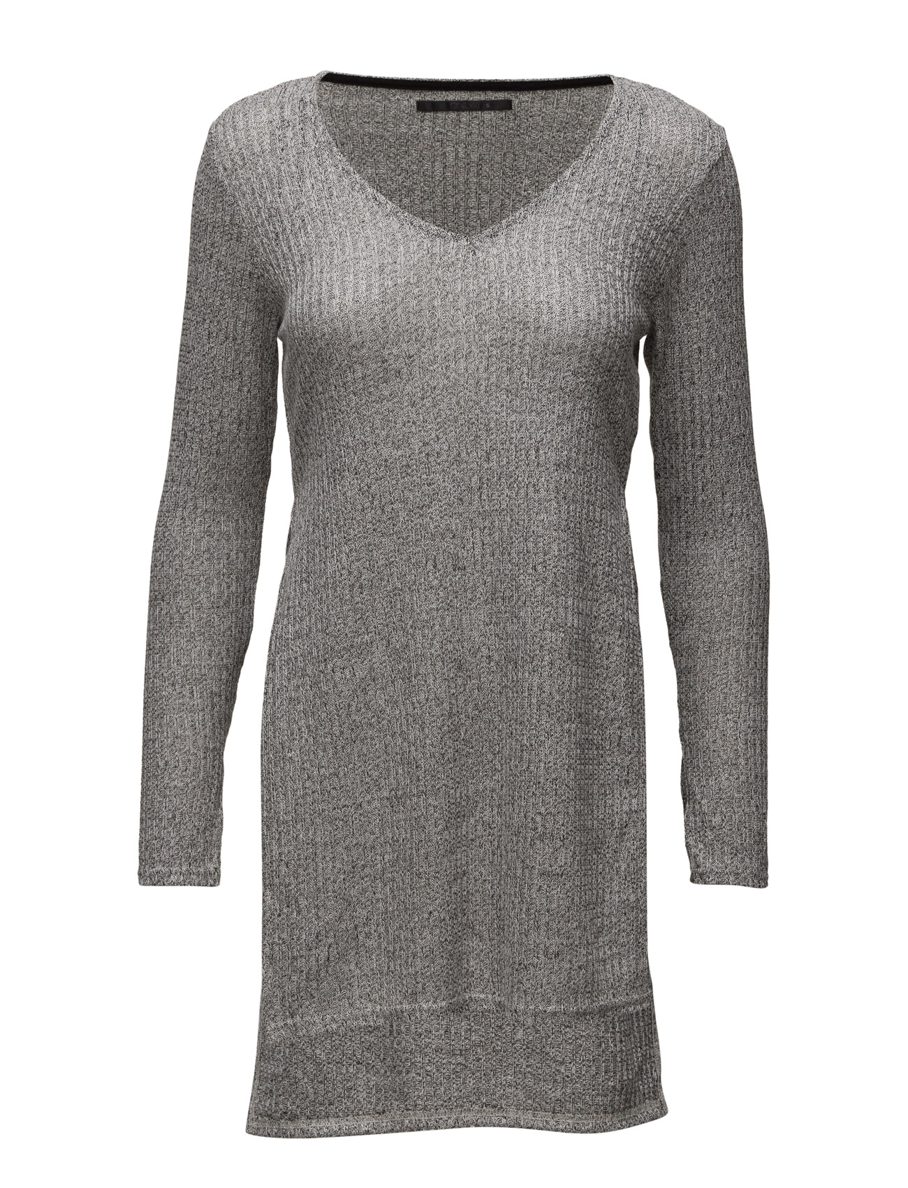 Onldhaka L/S Long Slit Pullover Knt ONLY Kjoler til Kvinder i Medium Grey Melange