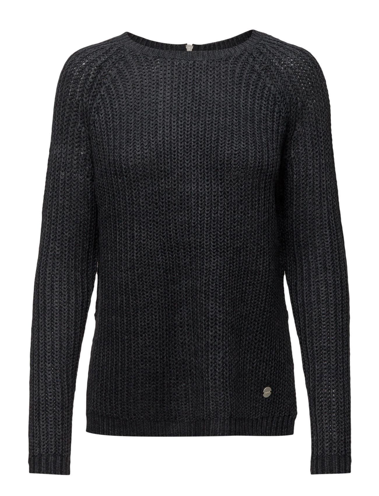 Onlnew Ana L/S Zip Pullover Knt Noos ONLY Sweatshirts til Damer i Blå Graphite