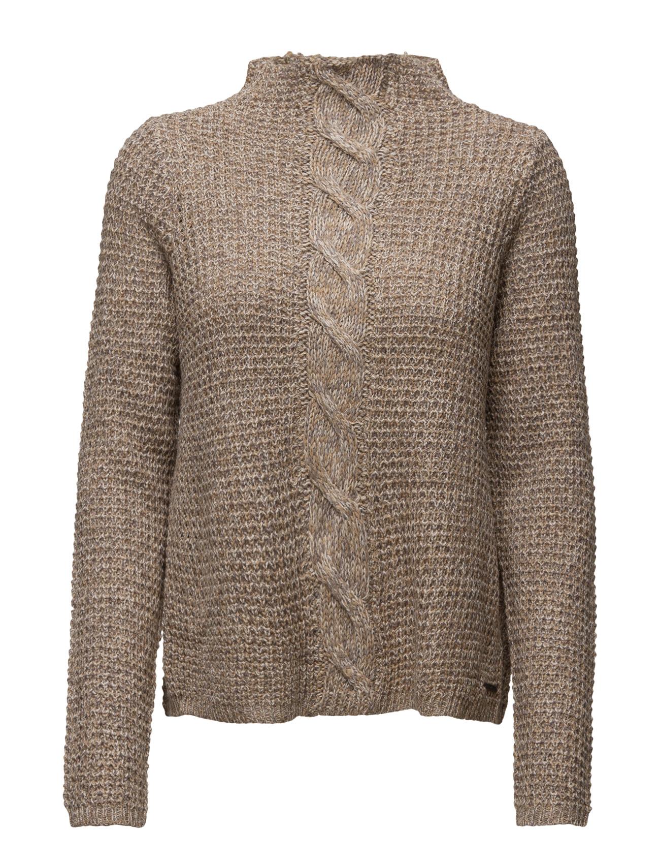 Onlaustin L/S Pullover Knt ONLY Sweatshirts til Kvinder i tannin