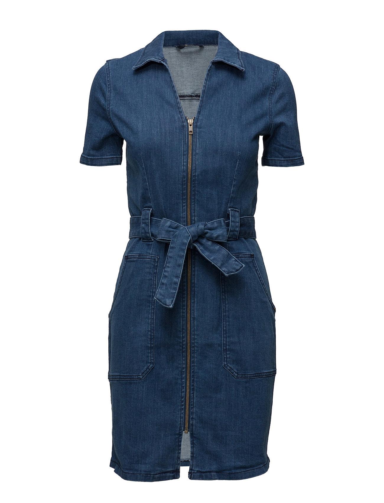 Onllilly Ss Zip Dnm Dress Blue Akm05 ONLY Korte kjoler til Damer i