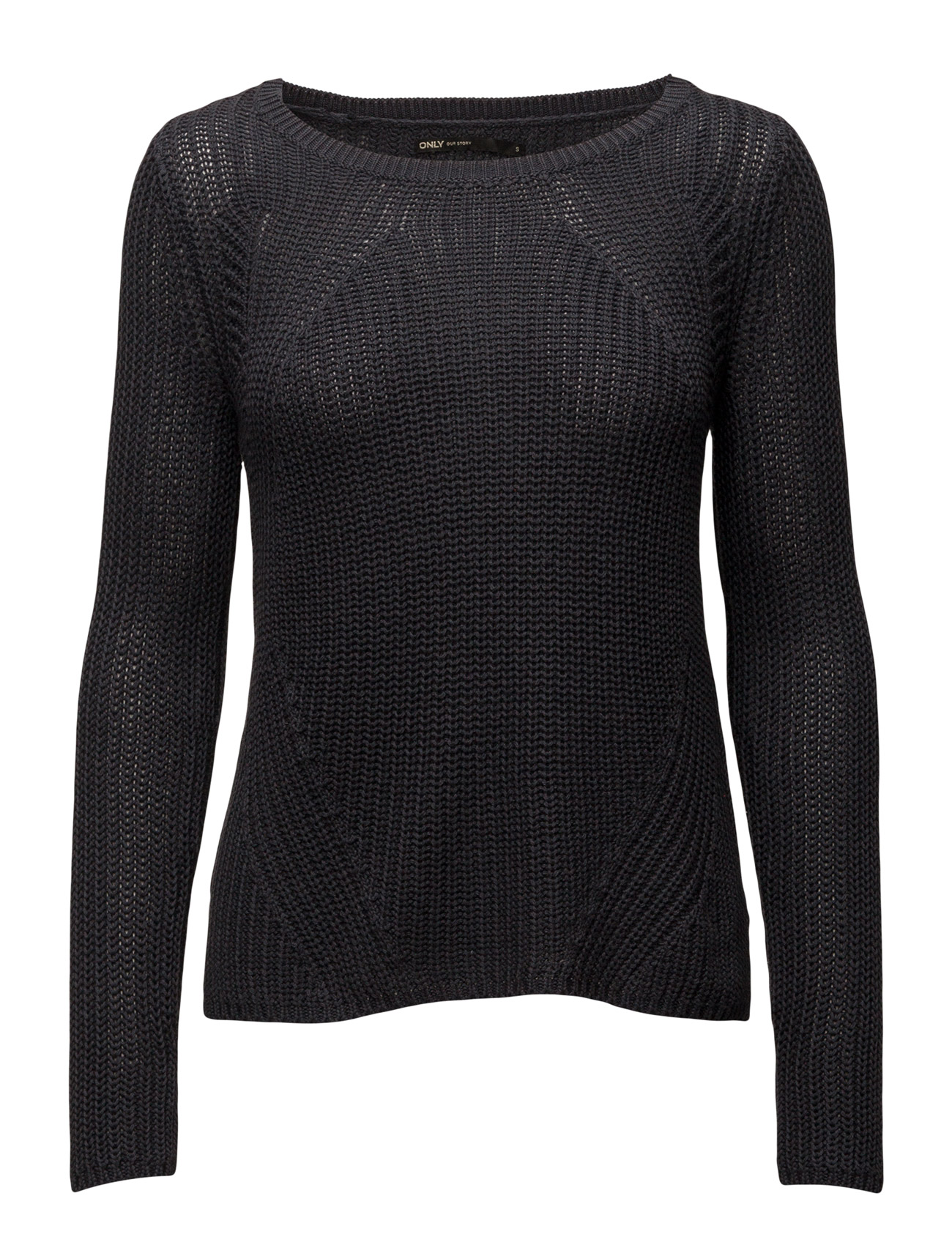 Onlcira L/S Pullover Knt ONLY Sweatshirts til Damer i Blå Graphite