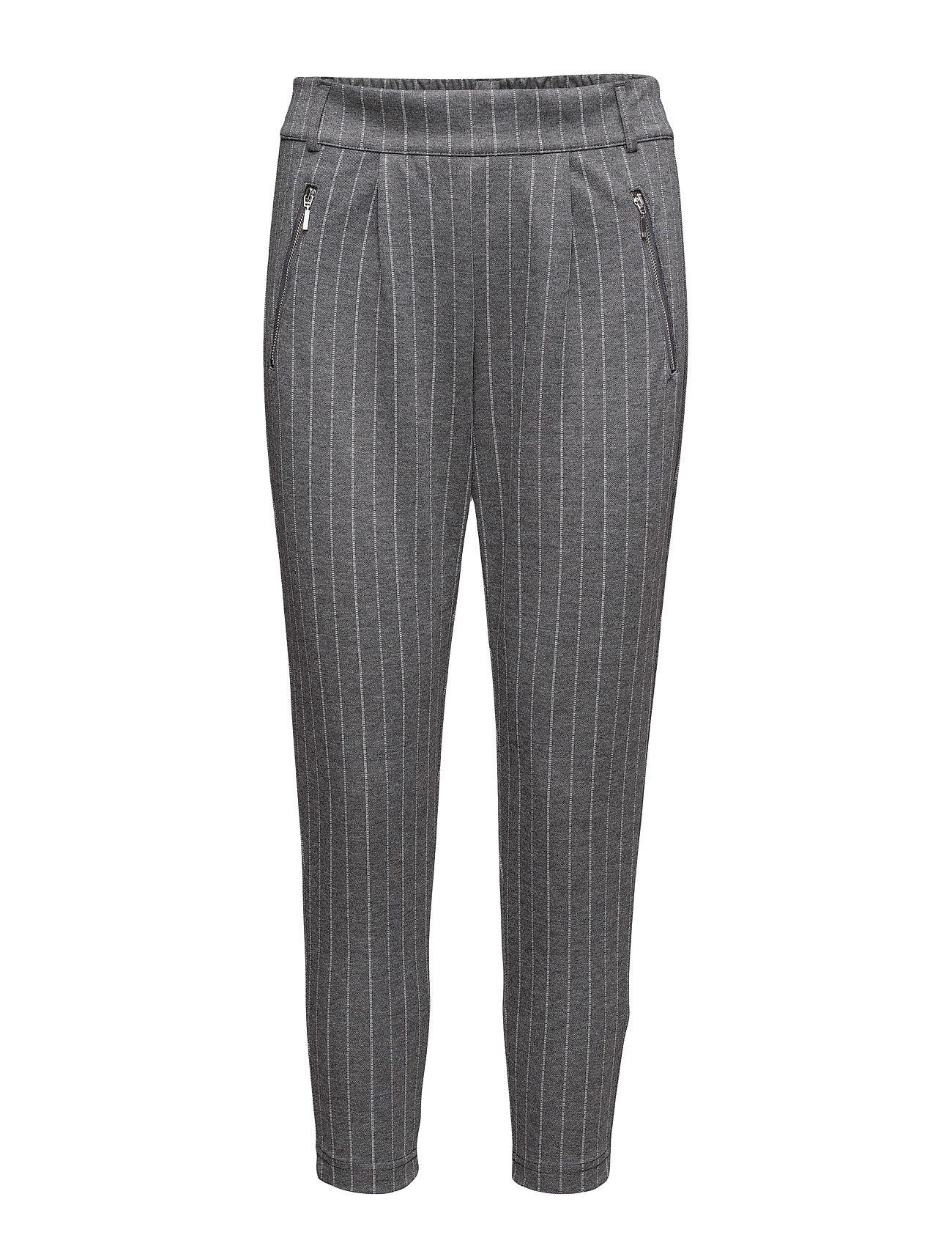 Onlpoptrash Easy Ankle Zip Stripe Pant ONLY Bukser til Kvinder i
