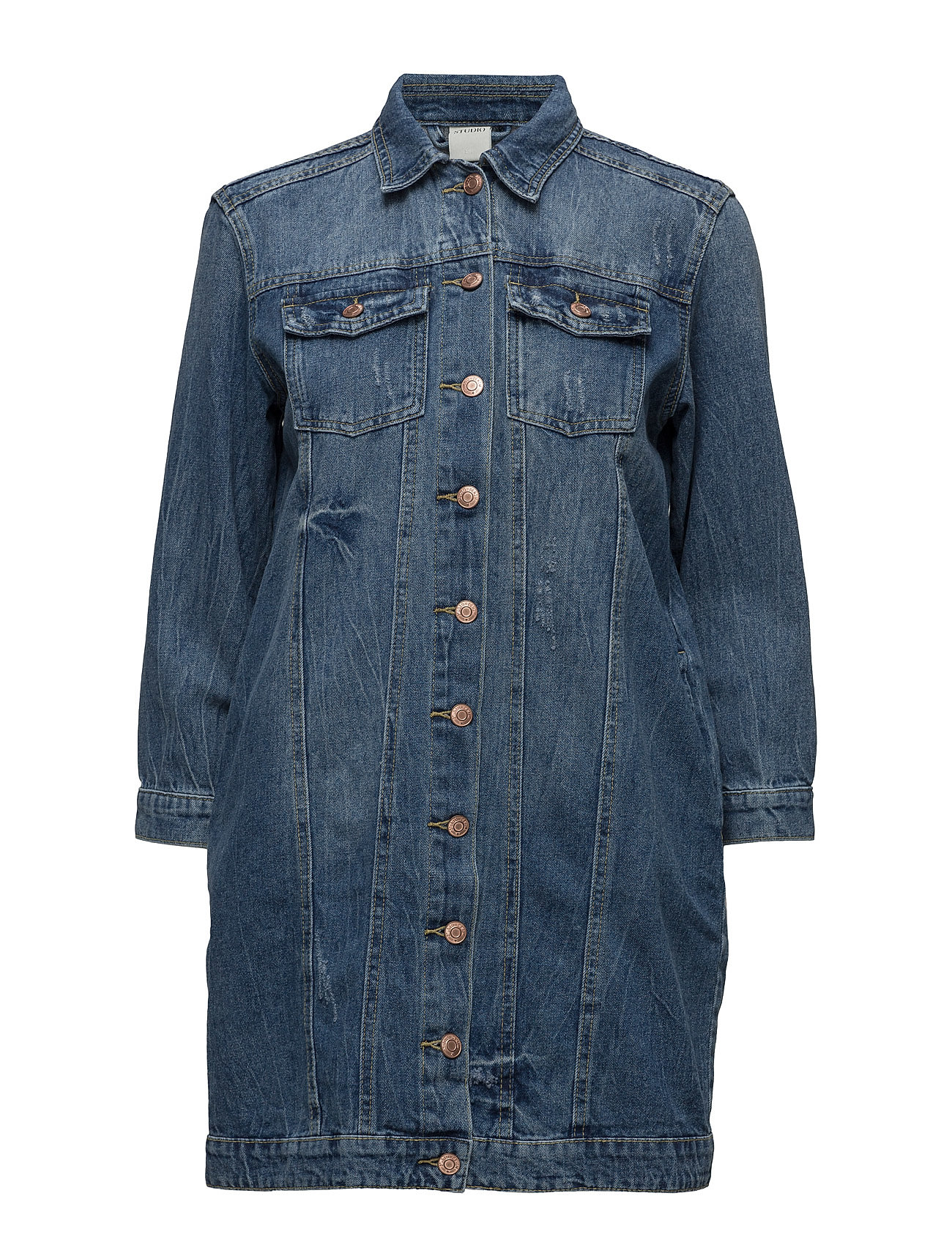 Stustudio 7/8 Long Denim Jacket Blue ONLY Jakker til Kvinder i