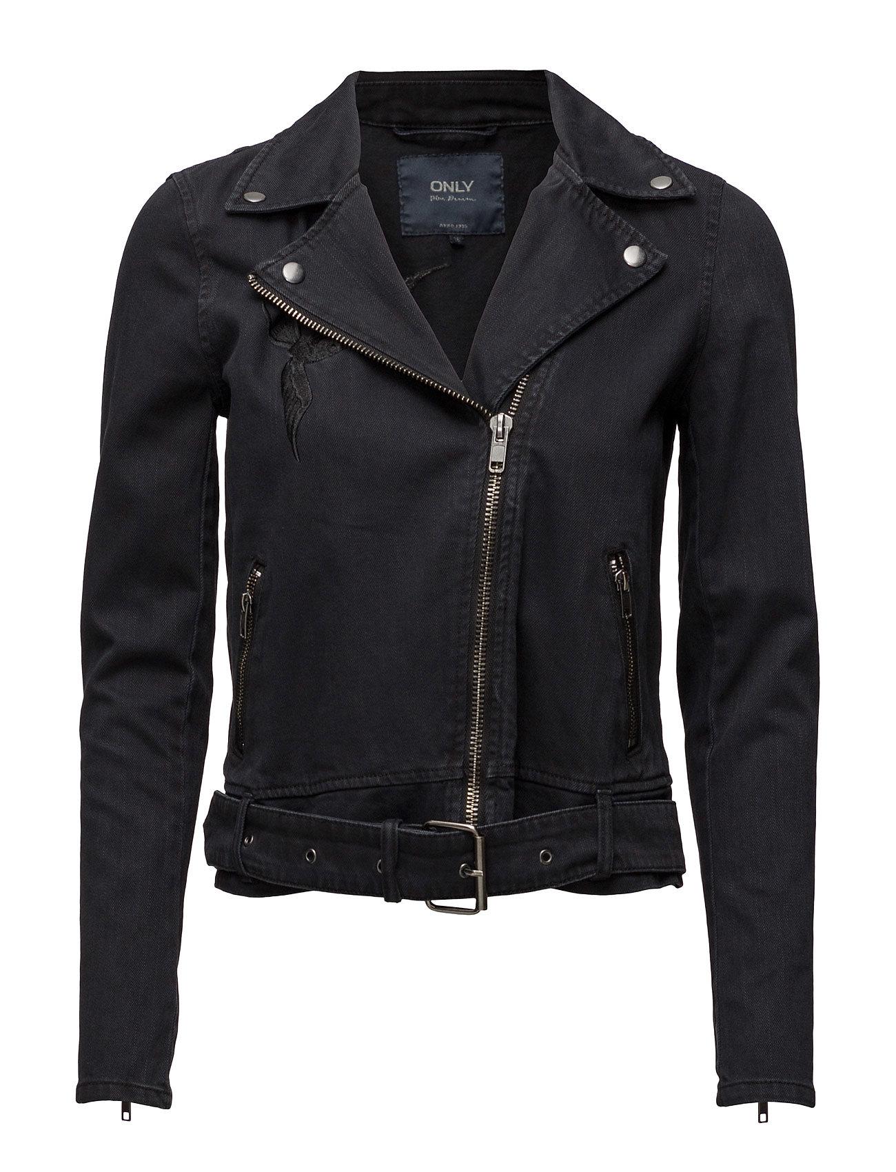Onlmadison Black Dnm Biker Jacket Bj ONLY Jakker til Kvinder i Black Denim