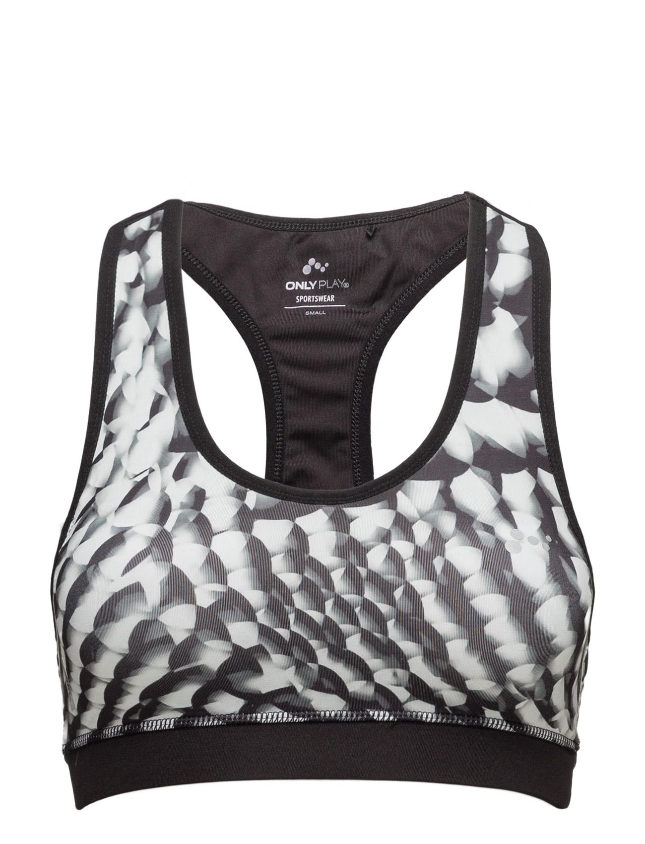 Onpcalm Aop Sports Bra ONLY Sports undertøj til Damer i hvid