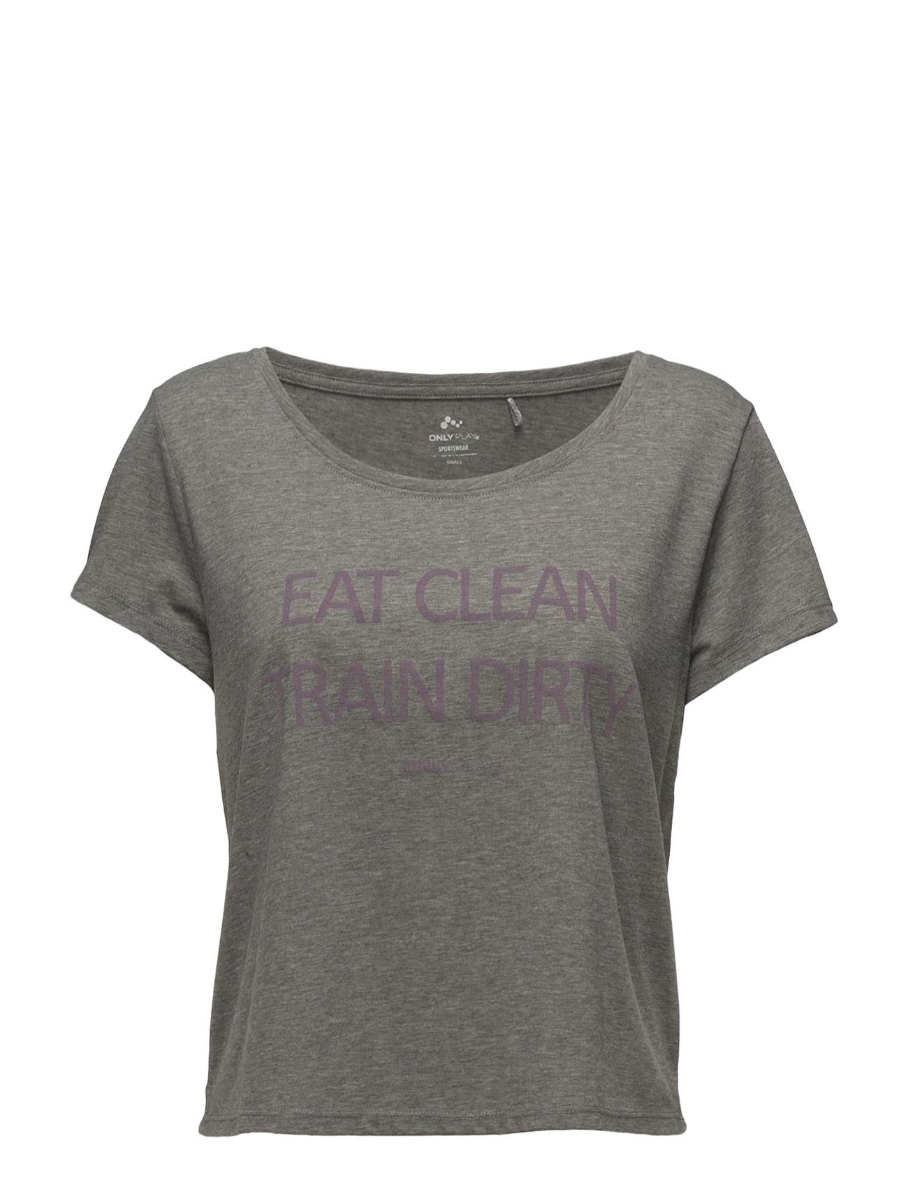 Onpwonder Short Ss Tee ONLY Løbe t-shirts til Damer i Medium Grey Melange