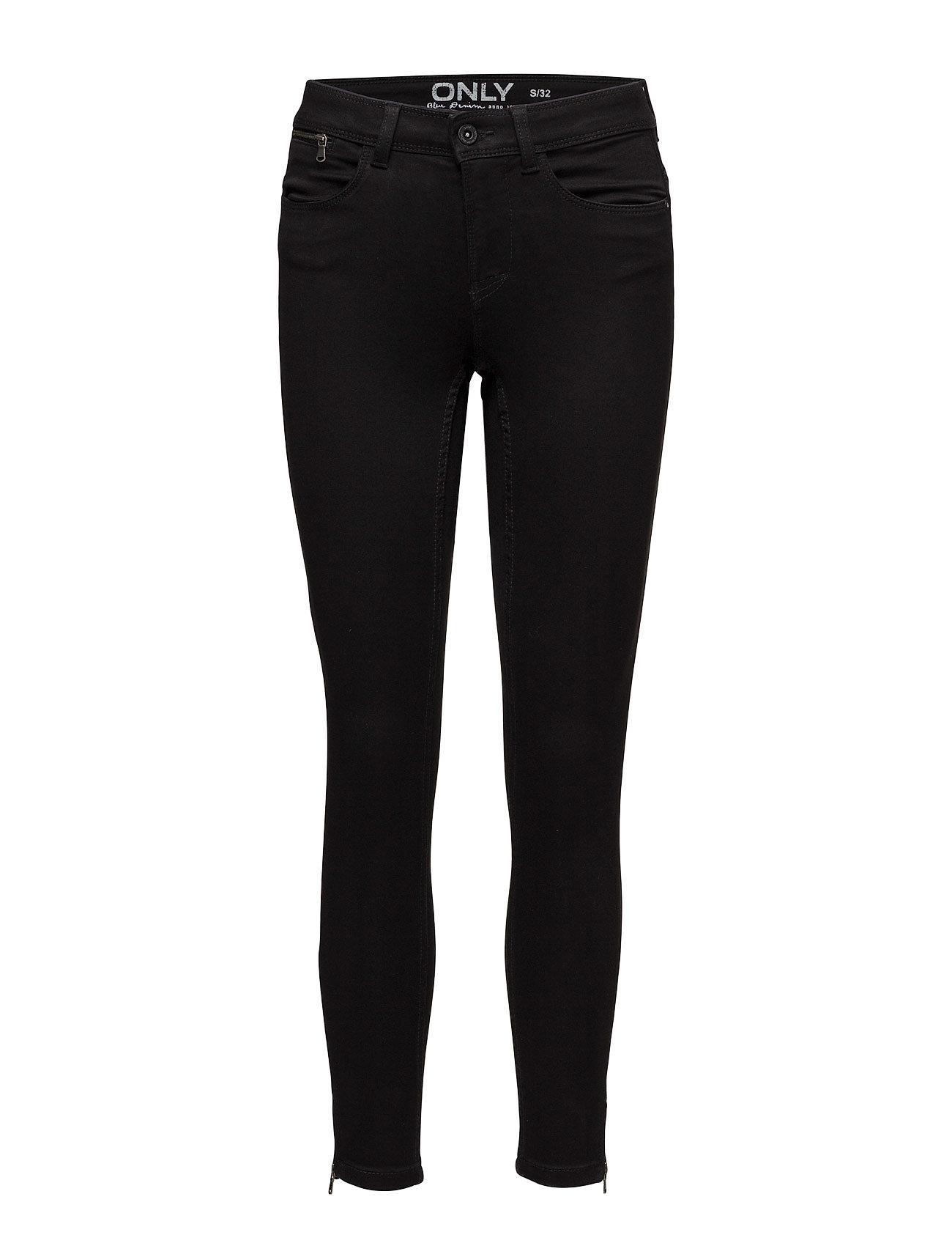 Onlultimate Rg Sk Zip Soft Black A Jeans ONLY Skinny til Damer i Sort