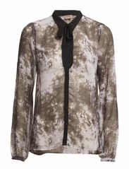 JOWELLE WVN AOP L/S SHIRT WW - Cloud Dancer