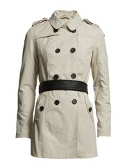 VALENTINE CONTRAST TRENCH COAT OTW - Oatmeal