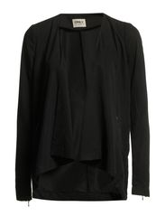 ELLA LS LONG BLAZER WVN - Black