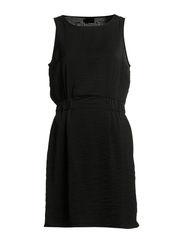 SIMME S/L DRESS WVN - BLACK