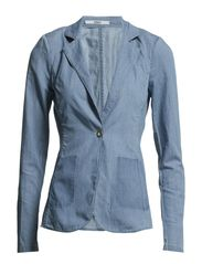 HOLLY DENIM BLAZER DNM - Light Blue Denim