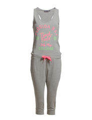 PLAY NINE SWEAT JUMPSUIT - Light Grey Melange