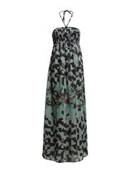 MONICA S/L SMOCK MAXI DRESS WVN - Vapor Blue