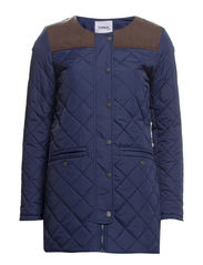 QUEENS QUILTED COAT OTW - Black Iris