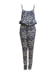 MAGGIE S/L JUMPSUIT WVN ESS - Cloud Dancer