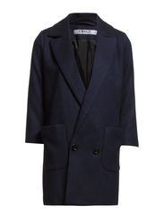 PAULINE 3/4 WOOL COAT OTW - Navy Blazer
