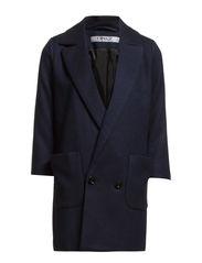 PAULINE 3/4 WOOL COAT OTW - Navy Blazer