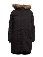 BETTY OVERSIZED PARKA OTW - Black
