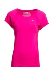 PLAY CLAIRE SS TRAINING TOP - Pink Glo