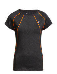 PLAY BIANCA SS TRAINING TOP - Dark Grey Melange