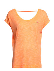 PLAY ANN SS TEE - Neon Orange