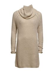 TULLALU L/S LONG ROLLNECK PULLOVER KNT - Oatmeal