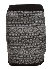 INKA SHORT SKIRT KNT - Black