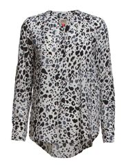 SHALLOW AOP LS TUNIC WVN RP6 - Cloud Dancer