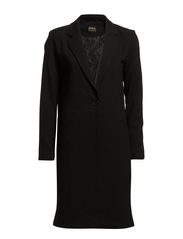 CESIA L/S LONG BLAZER WVN - Black