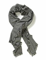 THIT HOUNDSTOOTH SCARF ACC - Black